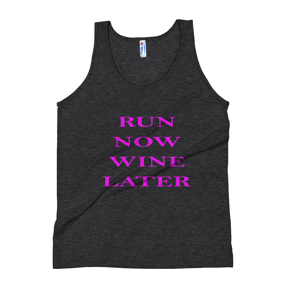 Run Now Wine Later Tank Top