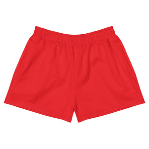 Red Women's Athletic Short Shorts
