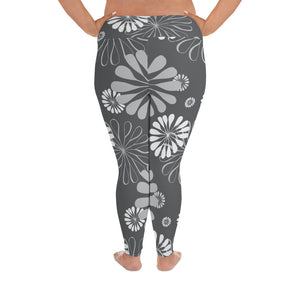 Black Blossoms Leggings