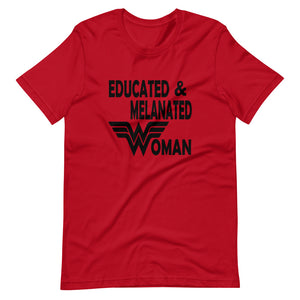 Educated & Melanated Custom Short-Sleeve T-Shirt