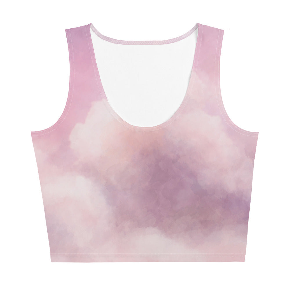 Purple Space Crop Top