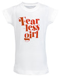 Fearless Girl Toddler Graphic Tee - White
