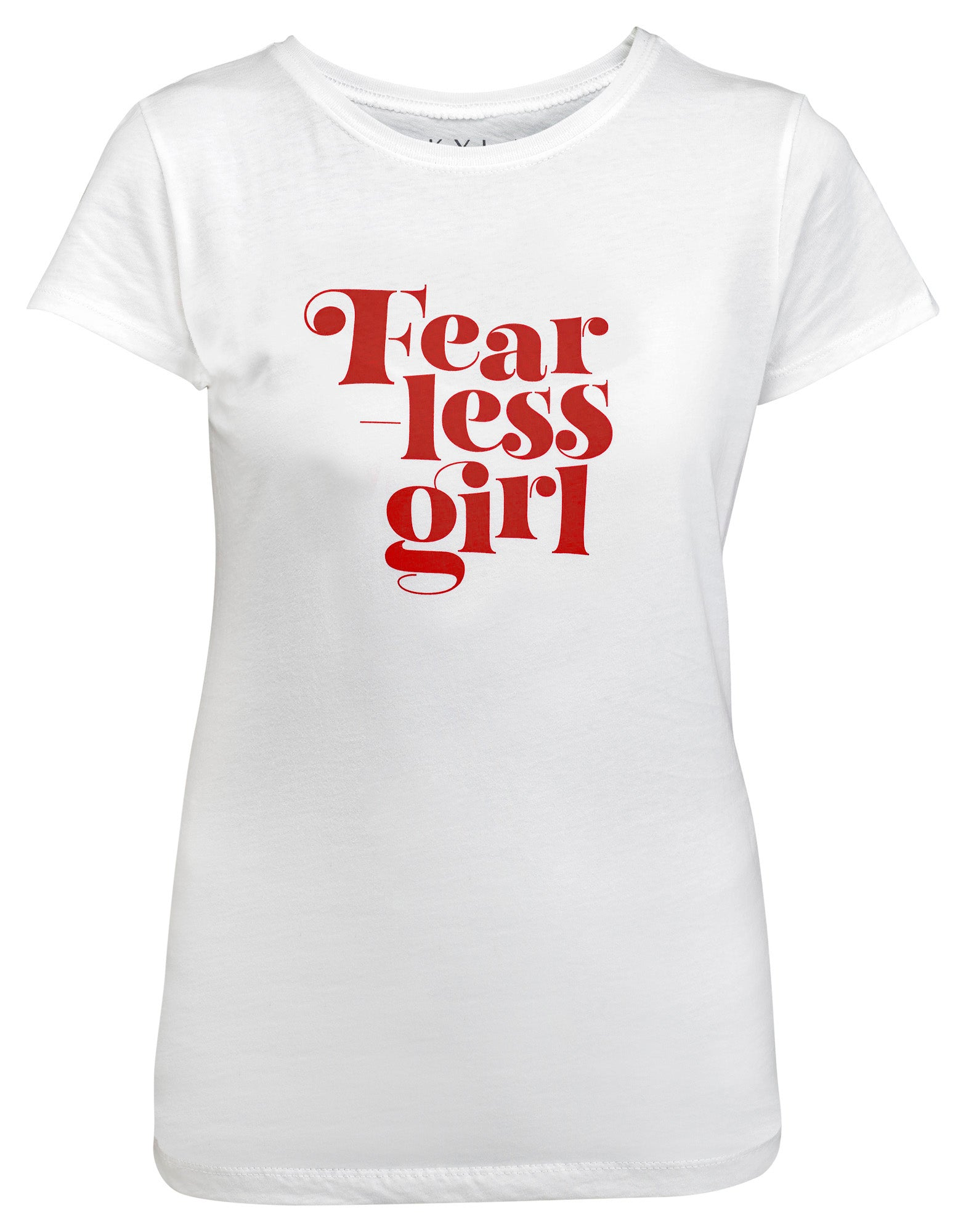 Fearless Girl Youth Graphic Tee - White