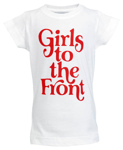 Girls to the Front Toddler Graphic Tee - White