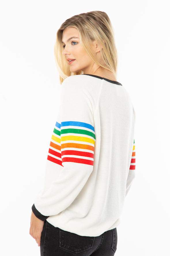 Striped Rainbow Sweater