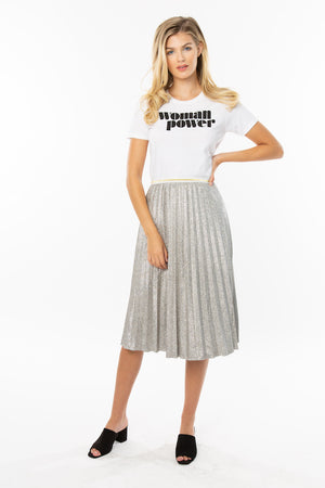 Woman Power Feminist Graphic Tee - White