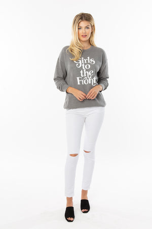 Girls to the Front Sweater in Grey