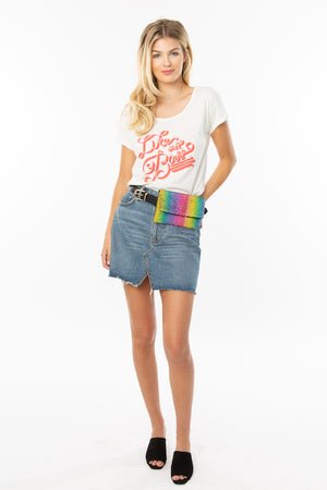 Like a Boss Feminist Graphic Tee - White
