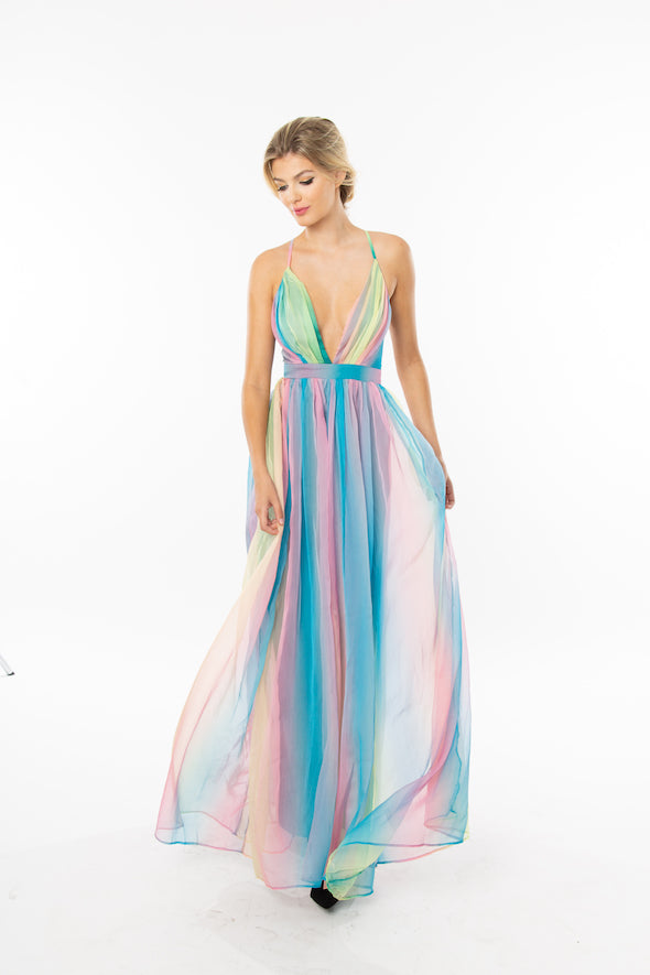 Unicorn Rainbow Maxi Dress