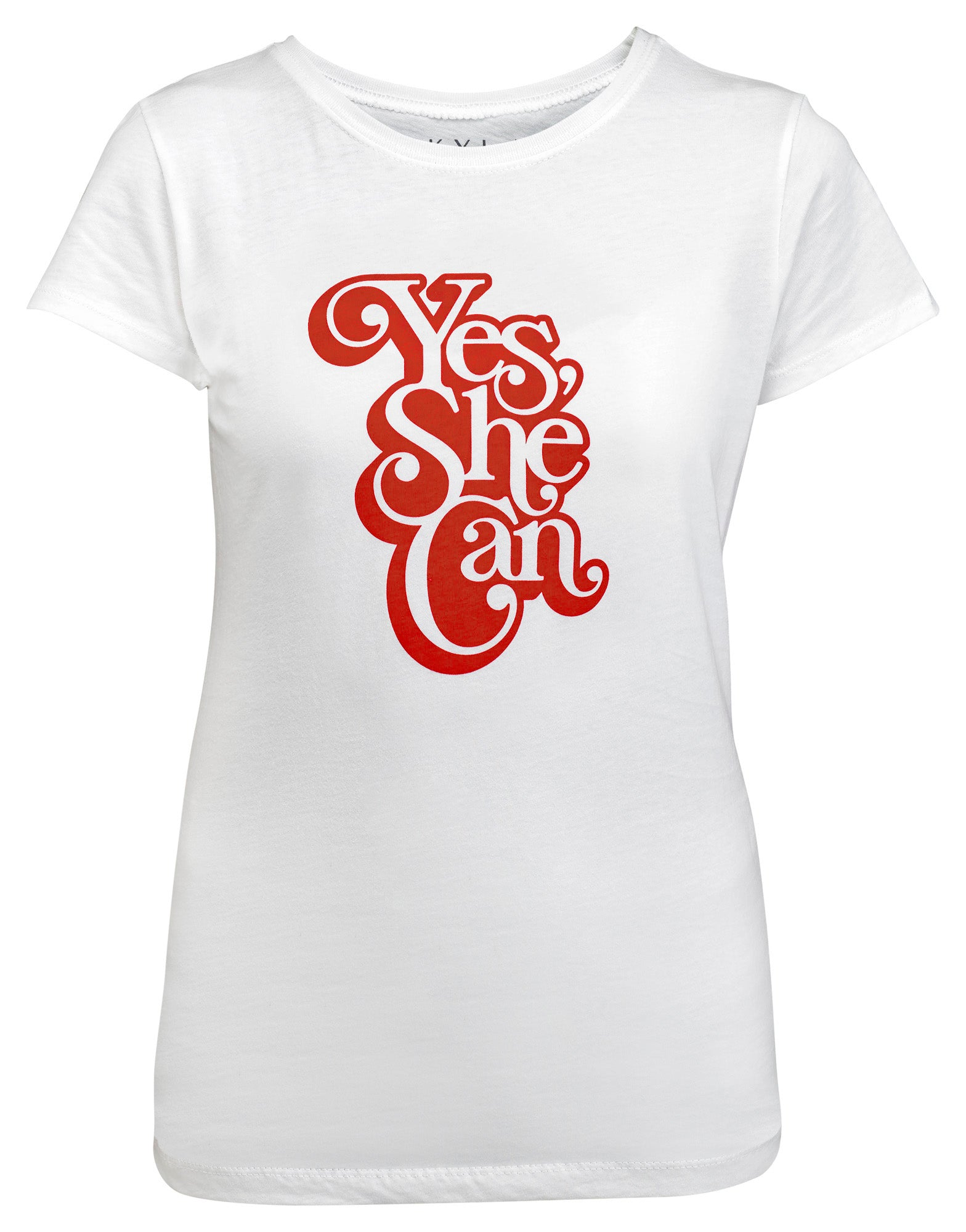 Yes, She Can Youth Graphic Tee - White