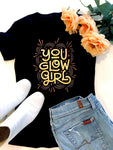 You Glow Girl Tee - Black