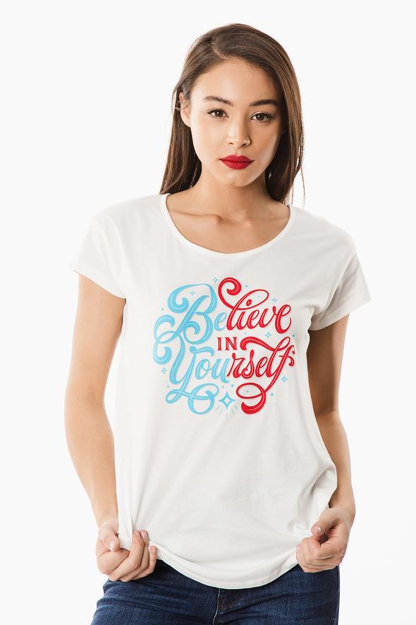 Believe in Yourself Graphic Tee - White
