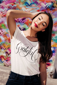 Grateful Graphic Tee - White