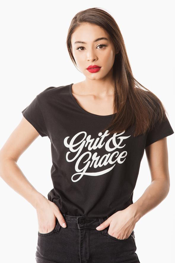 Grit and Grace Graphic Tee - Black