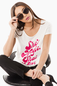 She's Magic, That One Graphic Tee - White