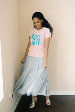 Blue Gray Shimmer Skirt