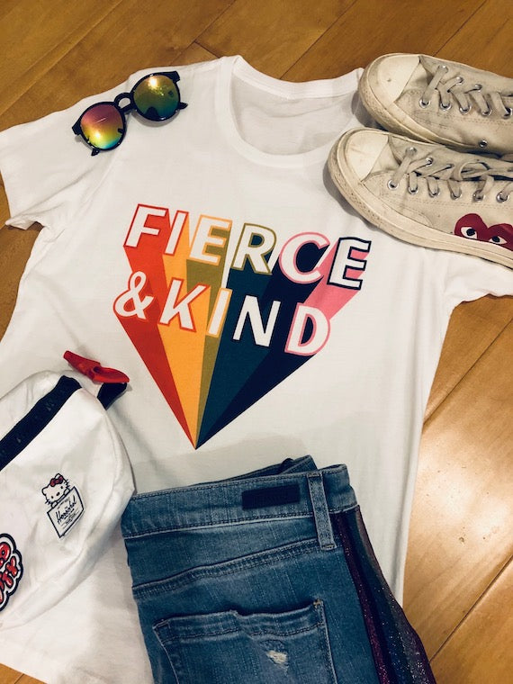 Fierce and Kind Tee - White