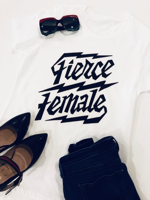 Fierce Female Tee - White