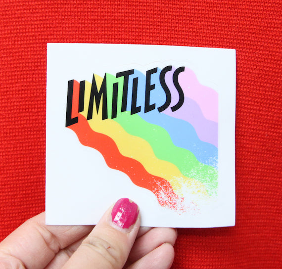 Limitless Sticker in Rainbow