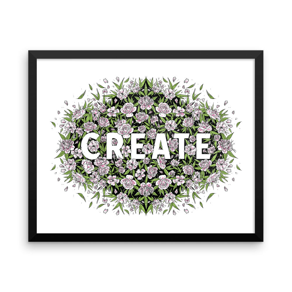 Create - Framed Print