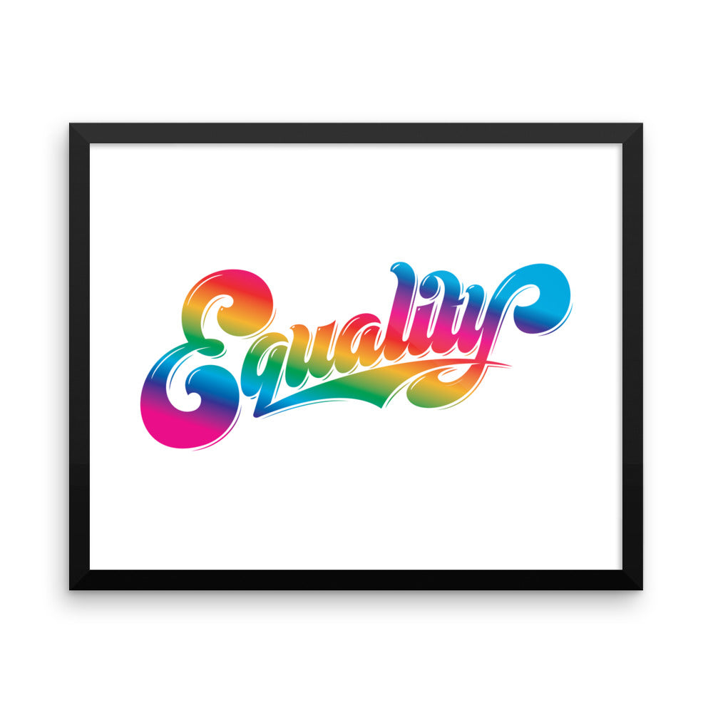 Equality - Framed Print
