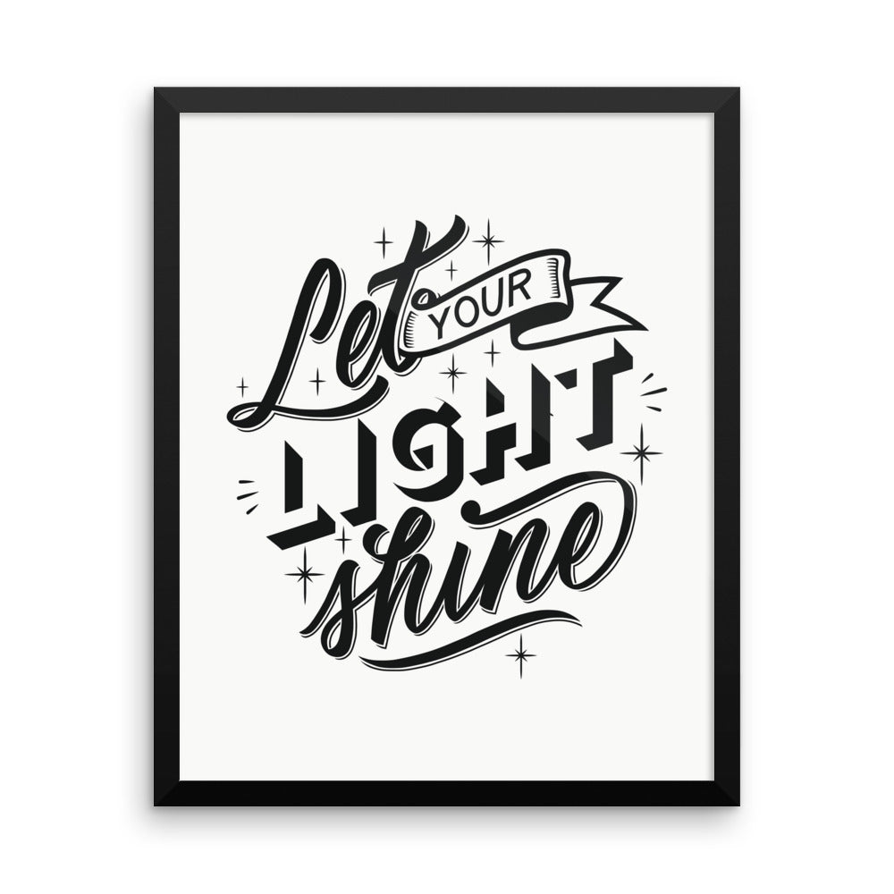 Let Your Light Shine - Framed Print