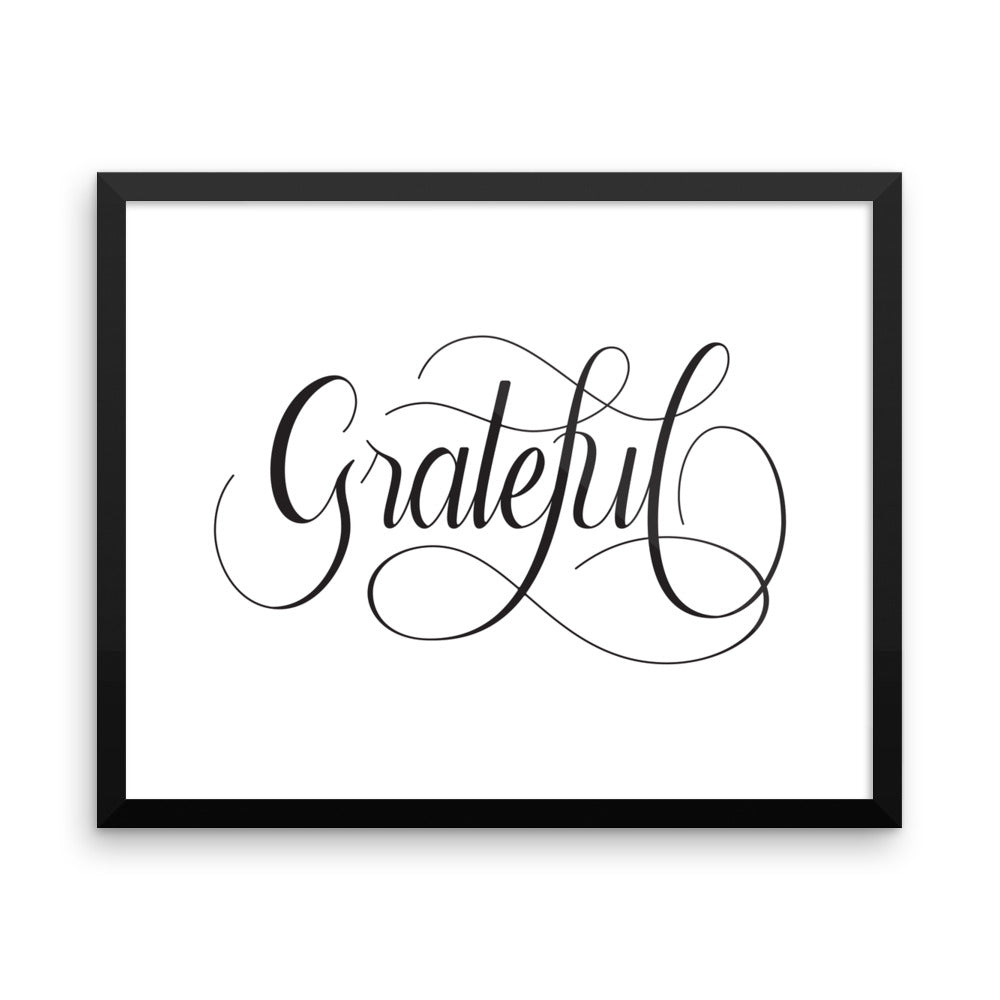 Grateful - Framed Print
