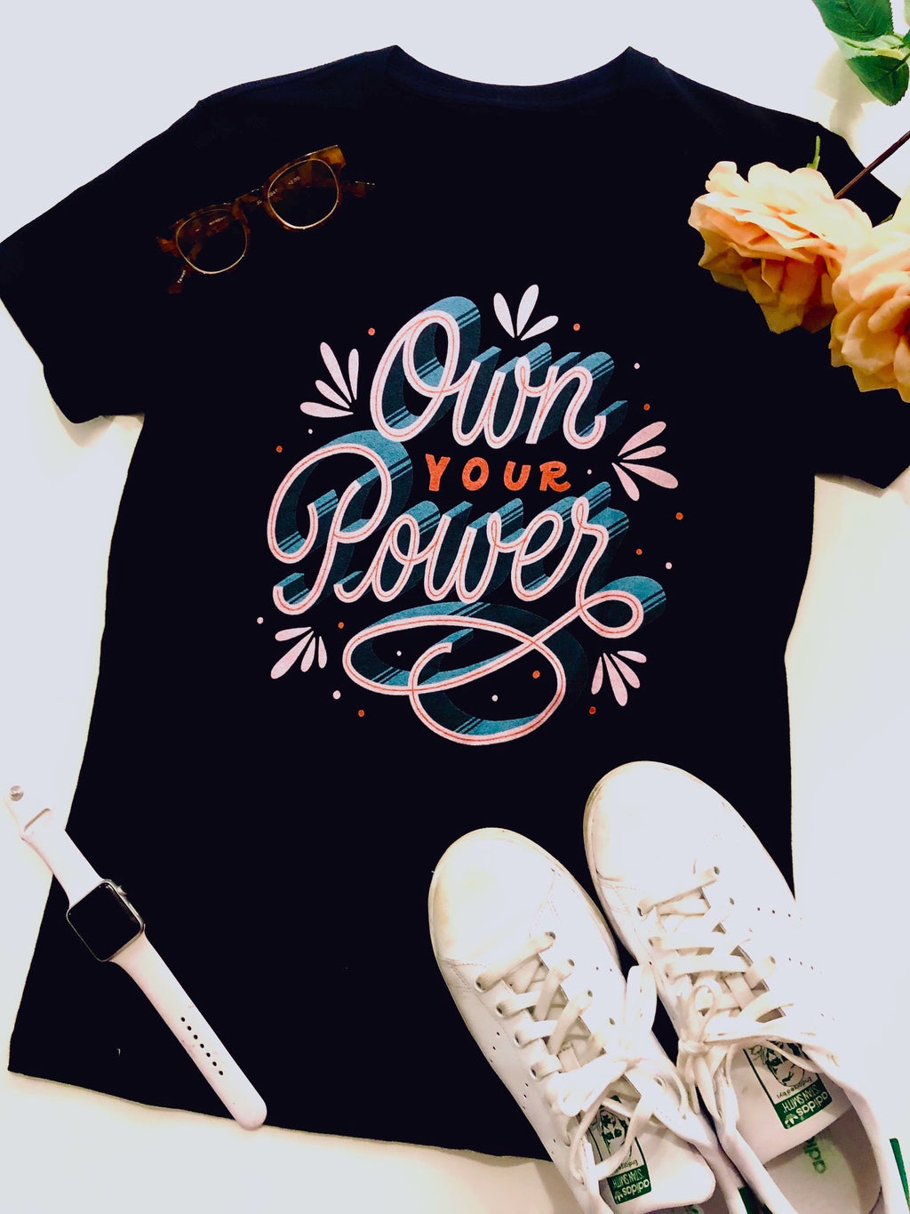 Own Your Power Feminist Tee - Black