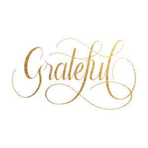 Grateful - Temporary Tattoo
