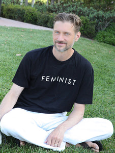 Feminist Unisex Men and Women Tee - Black