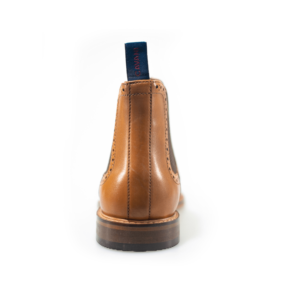 Cavani Porter Tan Leather Boots