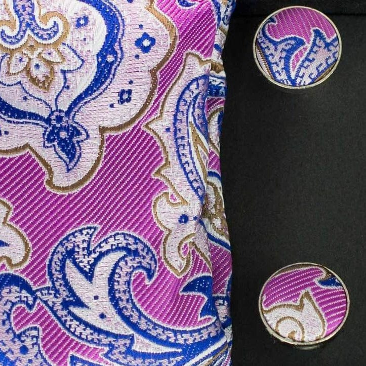 Paisley Pink Tie Gift Set - Menz Suits