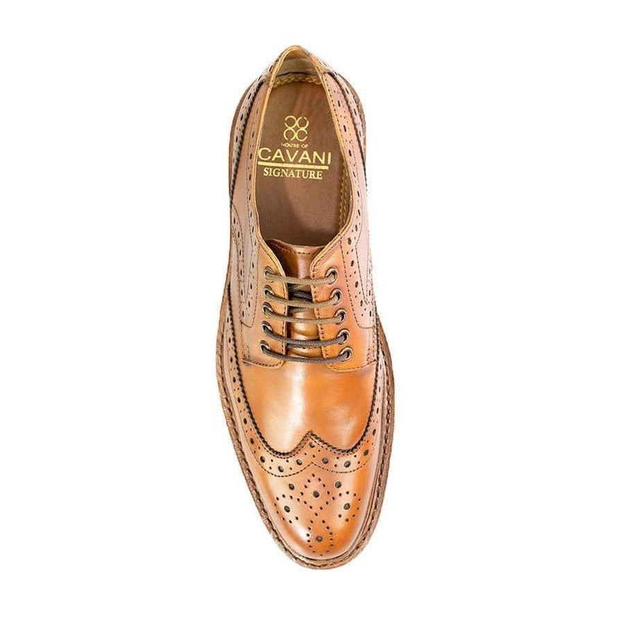 Cavani Cavendish Tan Signature Leather Brogue Shoes