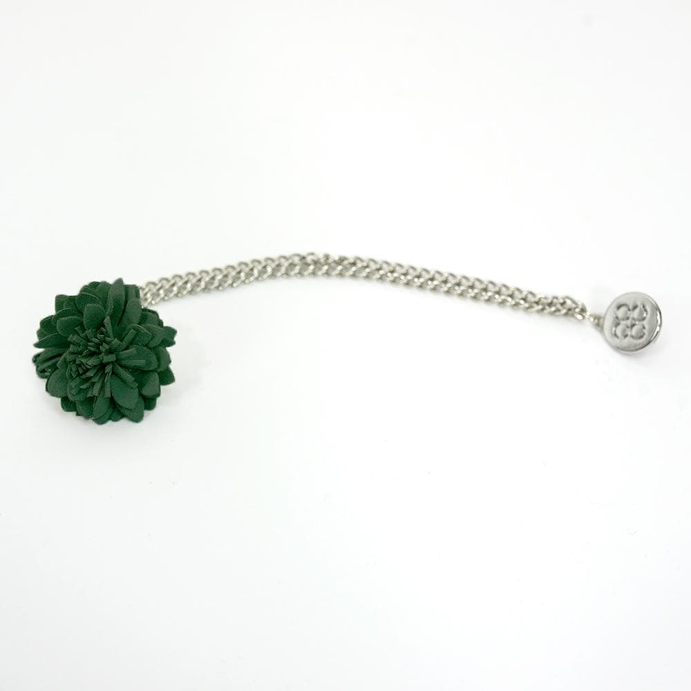 Forrest Green Flower Lapel Chain Pin