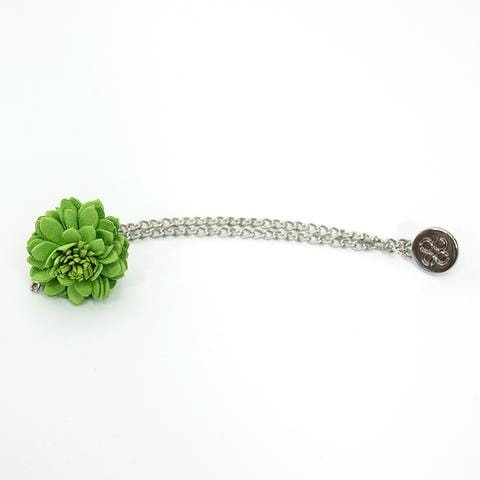 Green Flower Lapel Chain Pin - Menz Suits