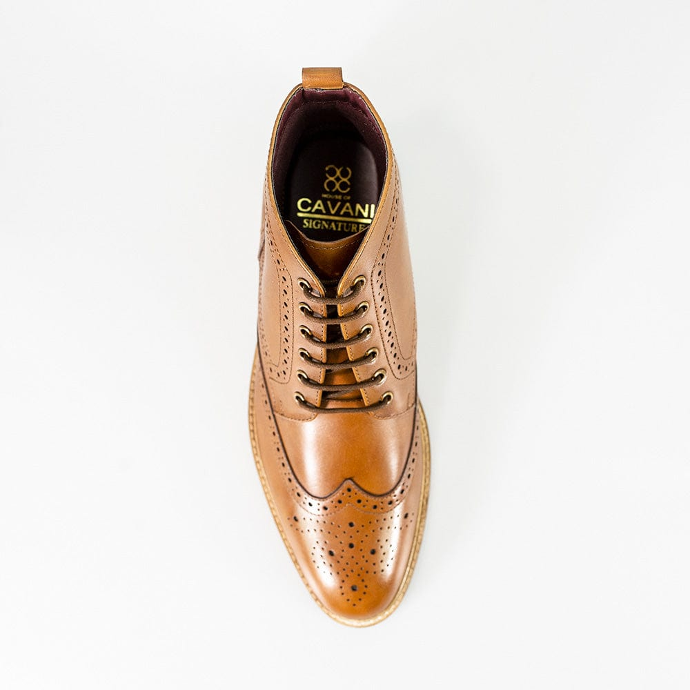 Cavani Holmes Signature Tan Leather Boots