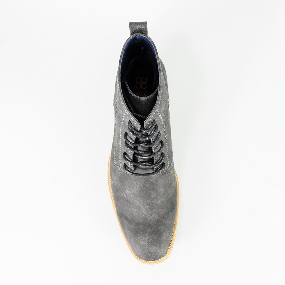 Cavani Hurricane Grey Lace Up Boots