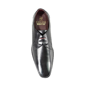 Cavani John Black  Signature Leather Shoes