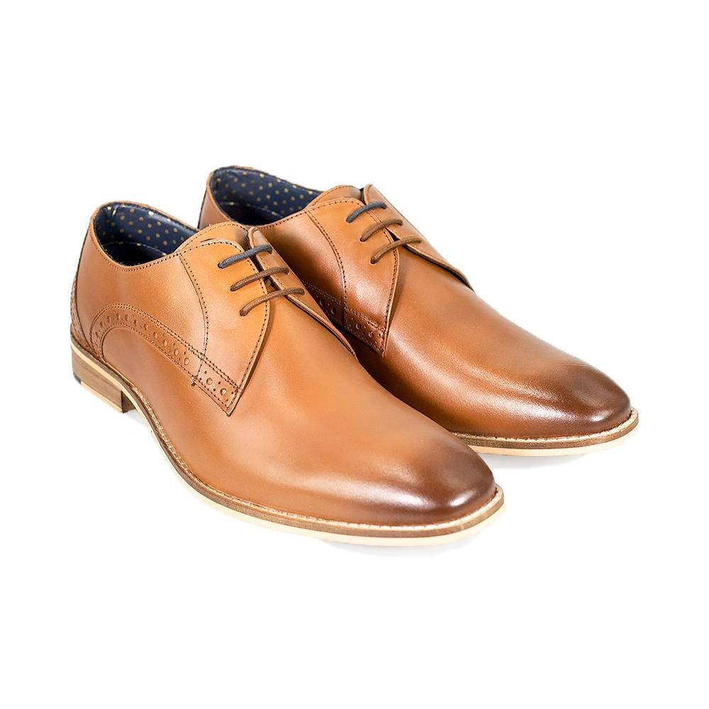 Cavani John Tan Signature Leather Shoes