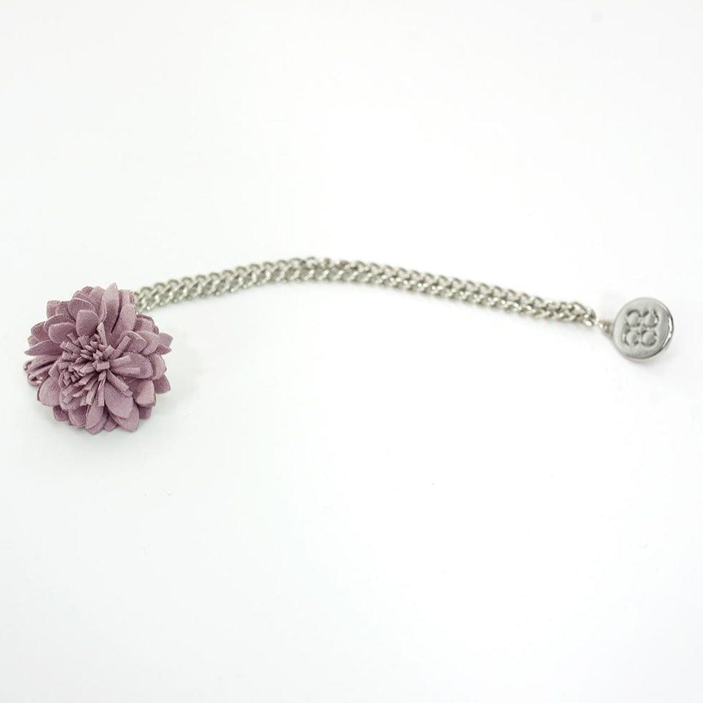 Cavani Lilac Flower Lapel Chain
