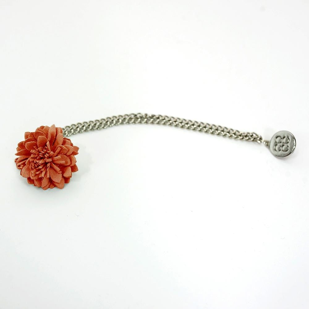 Cavani Orange Flower Lapel Chain