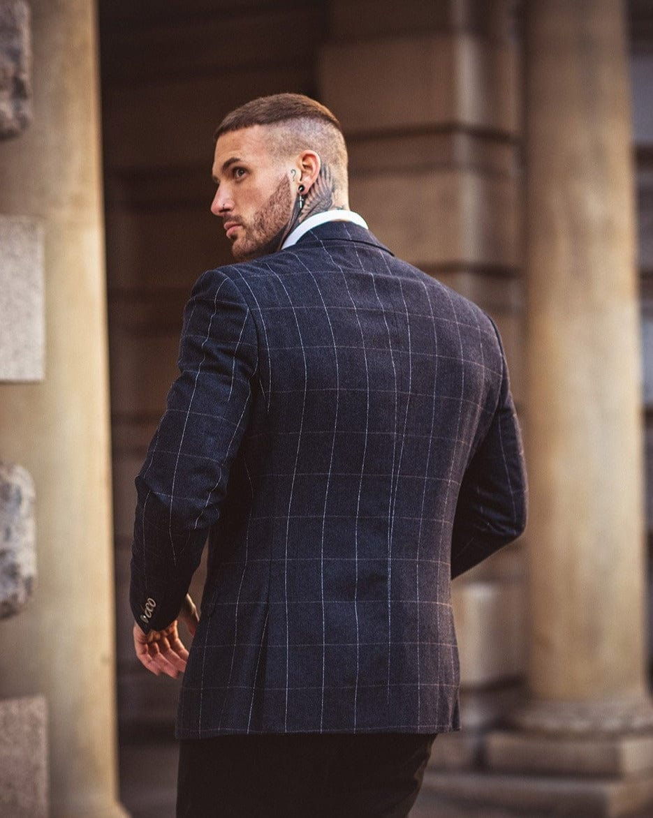 Cavani Angels Navy Check Blazer