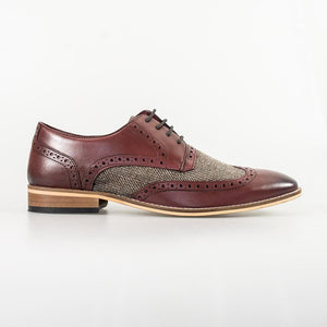 Cavani William Wine Signature Leather Shoes