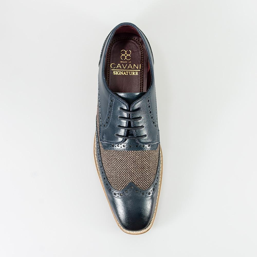Cavani William Navy Signature Leather Shoes