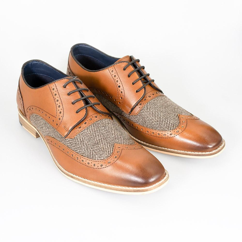 Cavani William Tan Signature Leather Shoes