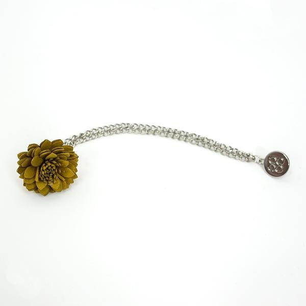 Yellow Flower Lapel Chain Pin - Menz Suits