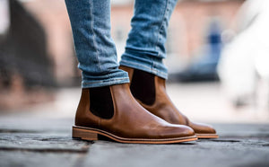 Cavani Watson Signature Tan Leather Chelsea Boots