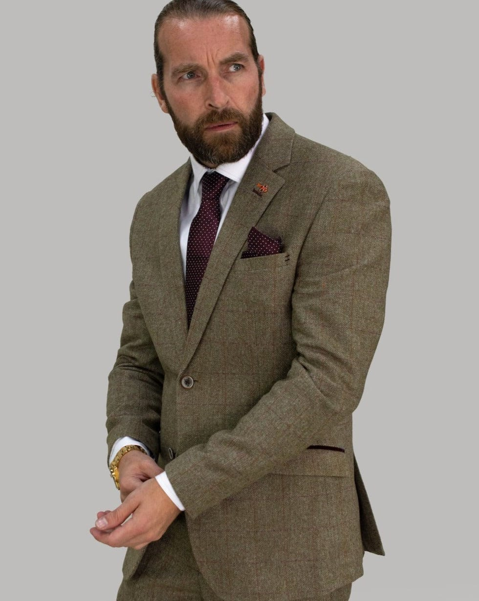 Cavani Gaston Sage Tweed Blazer