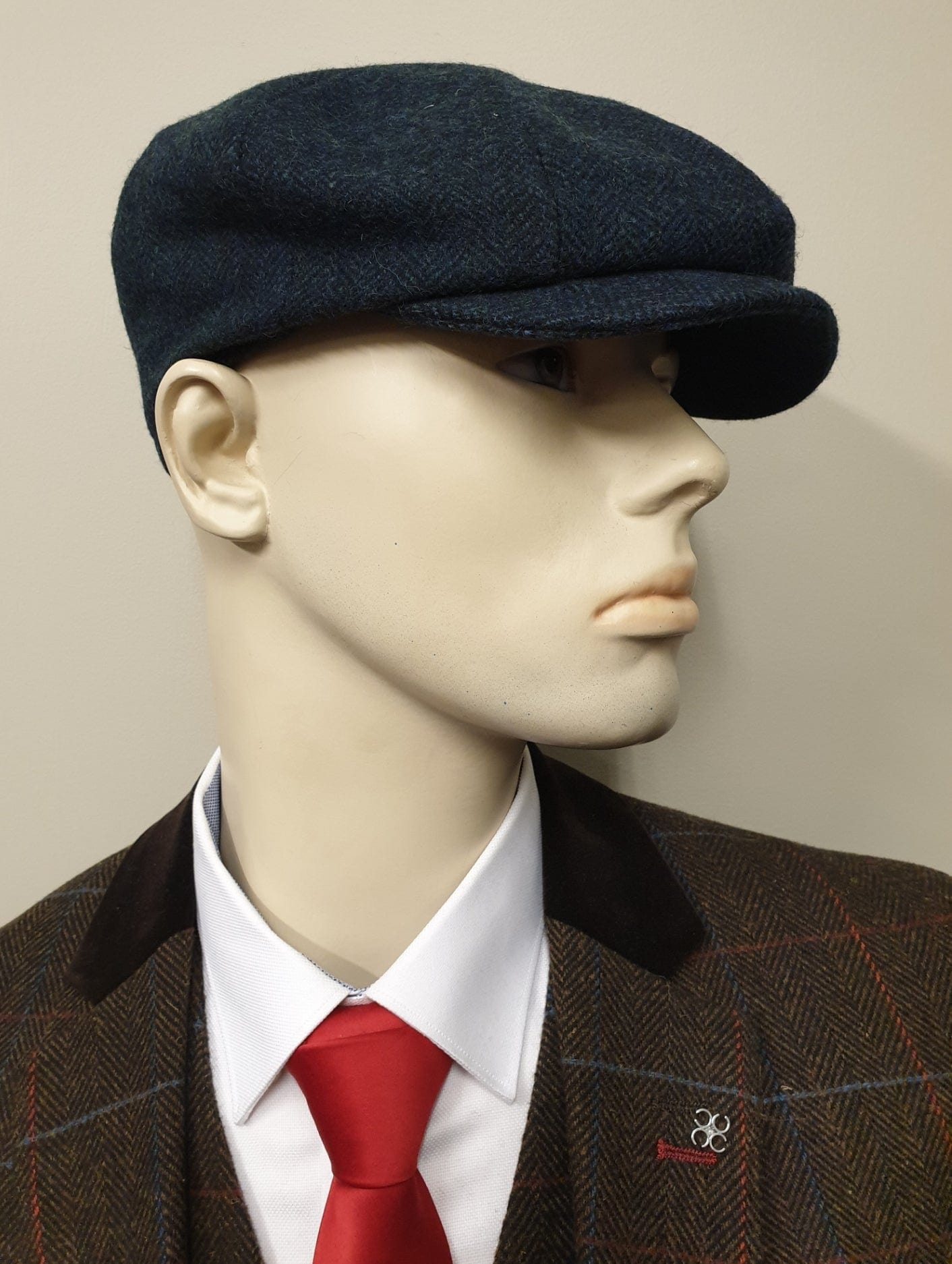 Peaky Blinders Navy Tweed 8 Piece Cap