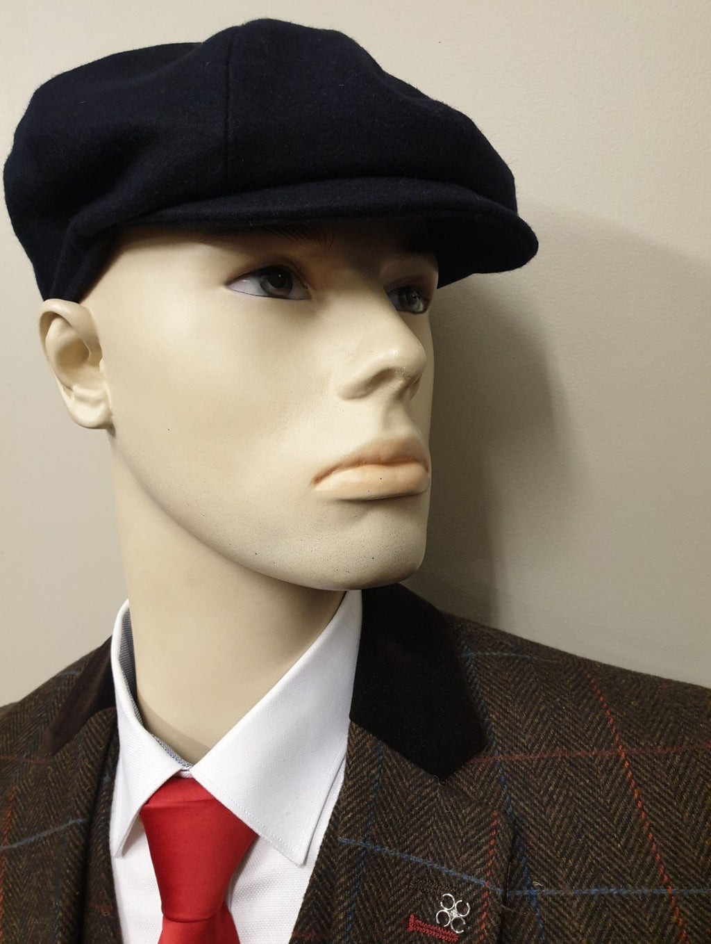 Peaky Blinders Navy Melton Wool 8 Piece Cap